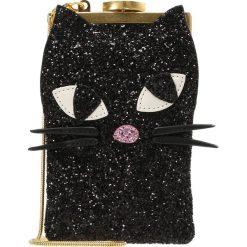 Torebki klasyczne damskie: Lulu Guinness GLITTER KOOKY CAT ELLIE Torba na ramię black