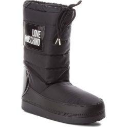 Śniegowce LOVE MOSCHINO - JA24022G16IK200A Nero. Czarne buty zimowe damskie marki Love Moschino, z materiału, na niskim obcasie. Za 589,00 zł.