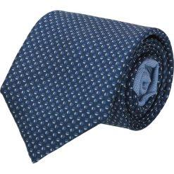 Krawat winman granatowy classic 209. Niebieskie krawaty męskie Recman, w geometryczne wzory, z bawełny, eleganckie. Za 129,00 zł.
