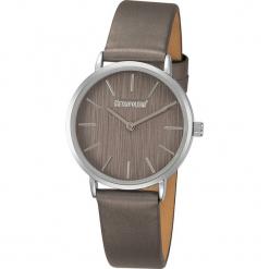 """Zegarek kwarcowy """"Ribbon"""" w kolorze ciemnoszaro-srebrnym. Szare, analogowe zegarki damskie METROPOLITAN, metalowe. W wyprzedaży za 99,95 zł."""
