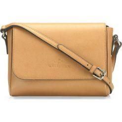 Torebka damska 86-4E-460-9. Brązowe torebki klasyczne damskie marki Wittchen, w paski, małe, z tłoczeniem. Za 229,00 zł.