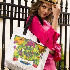 Torebki i plecaki damskie: Duża torba z autorskim nadrukiem The Feeder