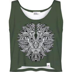 Colour Pleasure Koszulka damska CP-035 208 zielona r. XS-S. Zielone bluzki damskie Colour pleasure, s. Za 64,14 zł.