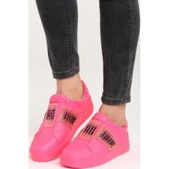 Fuksjowe Buty Sportowe Call My Name. Różowe buty sportowe damskie marki Born2be, z materiału. Za 79,99 zł.