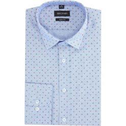 Koszula versone 2857a długi rękaw slim fit niebieski. Niebieskie koszule męskie slim Recman, m, z długim rękawem. Za 149,00 zł.