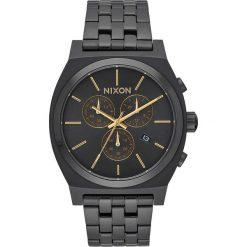 Zegarki męskie: Zegarek męski All Black Gold Nixon Time Teller Chrono A9721031