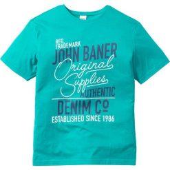 T-shirty męskie z nadrukiem: T-shirt z nadrukiem Regular Fit bonprix szmaragdowy