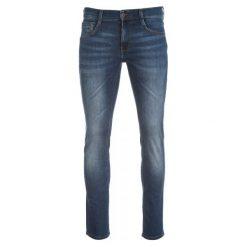 Mustang Męskie Jeansy Oregon Tapered 32/34 Niebieskie. Czarne jeansy męskie z dziurami marki Mustang, l, z bawełny, z kapturem. W wyprzedaży za 230,00 zł.