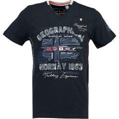 """T-shirty męskie z nadrukiem: Koszulka """"Jouri"""" w kolorze granatowym"""