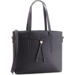 Torebka JENNY FAIRY - RH0622 Black. Czarne torebki klasyczne damskie marki Jenny Fairy, ze skóry ekologicznej. Za 99,99 zł.