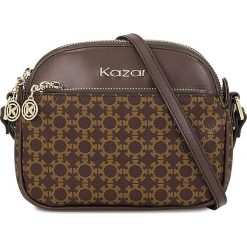 Brązowa torebka damska. Brązowe torebki klasyczne damskie Kazar, w paski, małe. Za 499,00 zł.