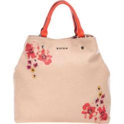 Torebki klasyczne damskie: Skórzana torebka w kolorze różowym – (S)40 x (W)46 x (G)19 cm