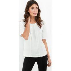 Koszulka z szyfonową wstawką. Szare t-shirty damskie GERRY WEBER EDITION, z szyfonu. Za 199,00 zł.