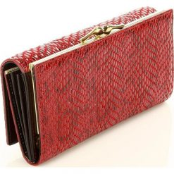 MONNARI Ekskluzywny portfel ze skóry naturalnej czerwony. Czerwone portfele damskie Monnari, ze skóry. Za 149,00 zł.