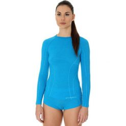 T-shirty damskie: Brubeck Koszulka damska active wool niebieska r. L (LS12810)
