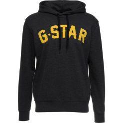 GStar HALGEN CORE HOODED Bluza z kapturem dark black heather. Czarne bluzy męskie rozpinane marki G-Star, m, z bawełny, z kapturem. Za 419,00 zł.