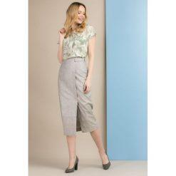 Spódniczki: Lniana, ołówkowa spódnica