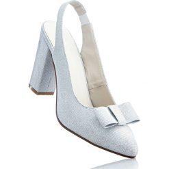Buty ślubne damskie: Czółenka z paskiem bonprix srebrny