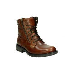 Kozaki i kalosze  Kangaroos  655-77. Brązowe buty zimowe męskie marki bonprix, na sznurówki. Za 461,67 zł.