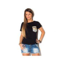 Damski T-shirt Simply Unique BLACK. Czarne t-shirty damskie marki beYOUnique, xs, w kolorowe wzory, z bawełny. Za 107,00 zł.