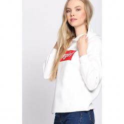 Biało-Czerwona Bluza Spectator. Białe bluzy rozpinane damskie Born2be, l, z kapturem. Za 59,99 zł.