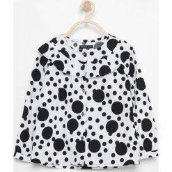 Bluzki dziewczęce bawełniane: Bawełniana koszula z falbaną - Biały