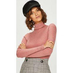 Answear - Sweter. Czerwone golfy damskie marki KALENJI, z elastanu, z krótkim rękawem, krótkie. W wyprzedaży za 79,90 zł.