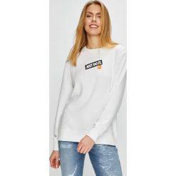 Nike Sportswear - Bluza. Szare bluzy z nadrukiem damskie Nike Sportswear, l, z bawełny, bez kaptura. Za 259,90 zł.