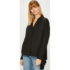 Vero Moda - Koszula Flow. Czarne koszule wiązane damskie marki Vero Moda, l, z bawełny, casualowe, z klasycznym kołnierzykiem, z długim rękawem. Za 149,90 zł.