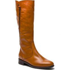 Oficerki ARA - 12-49519-76 Cuoio. Brązowe kowbojki damskie ara, z materiału, przed kolano, na wysokim obcasie. Za 629,00 zł.
