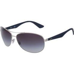 RayBan Okulary przeciwsłoneczne silberfarben/blau. Szare okulary przeciwsłoneczne męskie aviatory Ray-Ban. Za 489,00 zł.