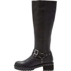 Bronx Kowbojki i Buty motocyklowe black/silver. Czarne buty zimowe damskie marki Bronx, z materiału. W wyprzedaży za 419,40 zł.