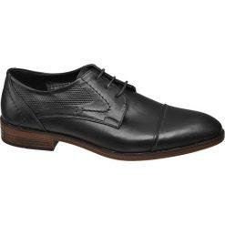 Półbuty męskie Venice czarne. Czarne buty wizytowe męskie Venice, z materiału. Za 119,90 zł.