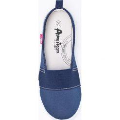 American Club - Trampki. Szare buty sportowe dziewczęce American CLUB, z materiału. W wyprzedaży za 29,90 zł.