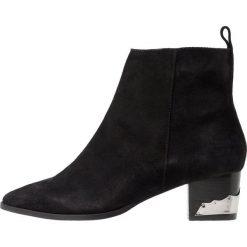 Topshop MEMO Ankle boot black. Czarne botki damskie na zamek Topshop, z materiału. Za 359,00 zł.