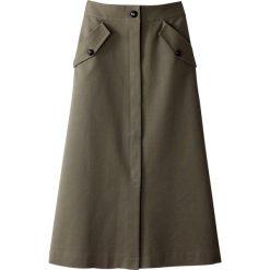 Długie spódnice: Długa spódnica na guziki