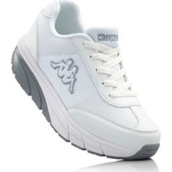 Buty sportowe Kappa bonprix biało-szary. Szare buty sportowe damskie marki bonprix, z materiału. Za 239,99 zł.
