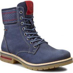 Trapery LASOCKI - WI16-AVILA-01 Granatowy 1. Niebieskie buty zimowe damskie Lasocki, z nubiku. W wyprzedaży za 99,99 zł.