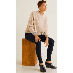 Mango - Jeansy Soho. Niebieskie jeansy damskie rurki Mango, z bawełny, z podwyższonym stanem. Za 139,90 zł.