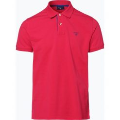 Gant - Męska koszulka polo – Rugger, różowy. Czerwone koszulki polo marki GANT, l, z bawełny. Za 349,95 zł.