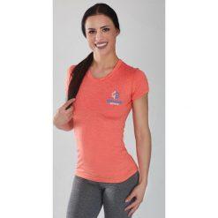"""Ground Game Sportswear Koszulka damska Rashguard Light """"Melange Orange"""" krótki rękaw Pomarańczowa r. XS. Brązowe bluzki damskie Ground Game Sportswear, xs, z krótkim rękawem. Za 119,00 zł."""