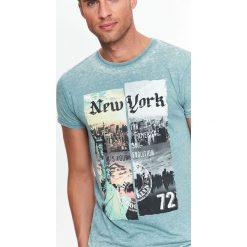 T-SHIRT KRÓTKI RĘKAW MĘSKI. Szare t-shirty męskie marki Top Secret, na lato, m. Za 24,99 zł.