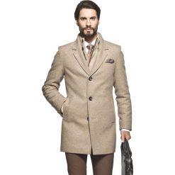 Płaszcz martel beż. Szare płaszcze na zamek męskie marki Recman, m, z długim rękawem. Za 399,99 zł.