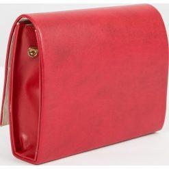 Puzderka: Torebka damska Borse kuferkowa kopertówka bordo