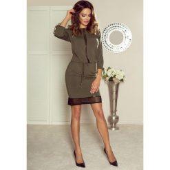 VARIA uniwersalna i wygodna sukienka khaki. Brązowe sukienki marki Bergamo, uniwersalny. Za 119,99 zł.