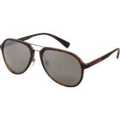 Prada Linea Rossa Okulary przeciwsłoneczne havana. Brązowe okulary przeciwsłoneczne męskie aviatory Prada Linea Rossa. Za 1009,00 zł.