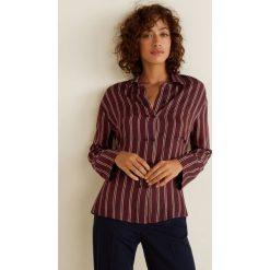 Mango - Koszula Lunita3. Brązowe koszule damskie marki Mango, l, w paski, z materiału, z długim rękawem. Za 199,90 zł.