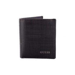 Portfele Guess  SM2548LEA21. Czarne portfele męskie marki Guess, z aplikacjami. Za 216,34 zł.