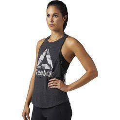 Reebok Koszulka damska Burnout grafitowa r. L (BR2668). Szare topy sportowe damskie marki Reebok, l, z dzianiny, casualowe, z okrągłym kołnierzem. Za 149,90 zł.