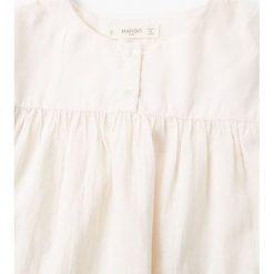 Mango Kids - Top dziecięcy Harvey 110-164 cm. Szare bluzki dziewczęce bawełniane marki bonprix, m, melanż, z kontrastowym kołnierzykiem. W wyprzedaży za 39,90 zł.